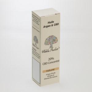 Huile Argan CBD Nobilis product 20% CBD